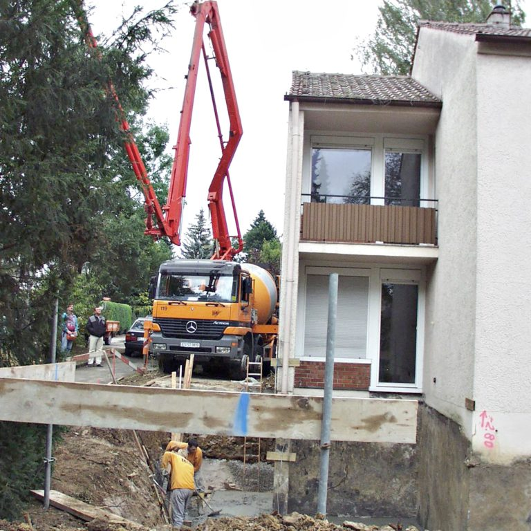 Hochbau Anbau Kling Plieningen 02.2002-02